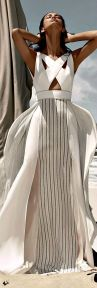 stunning shite summer dress BCBG max azria resort 2015