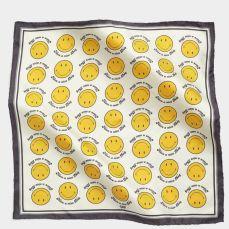 anya hindmarch smiley silk scarf