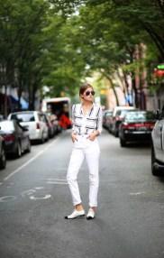 white cuffed jeans