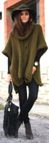 army green cape