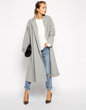 coat in midi swing trapeze. find it on asos
