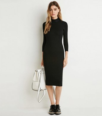forever 21 ribbed knit sweater dresss