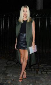 leather skirt from Vogue party