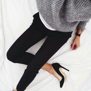 street-style-casual-gray-sweater