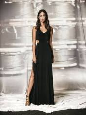 PARANOIA BLACK MAXI DRESS