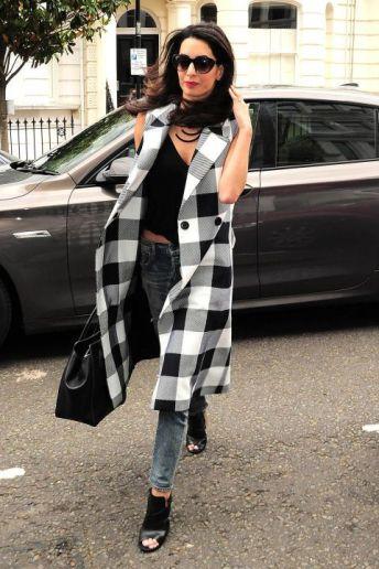 textured coats amal clooney