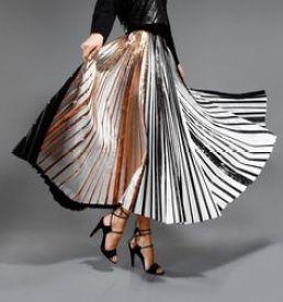 shimmering pleats