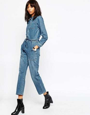 denim boilersuit asos