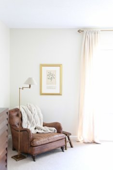 vintage leather seating in the bedroom