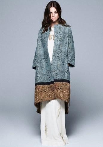 jacqard weave silk blend coat
