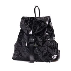 geometic patchwork daypack foldable rhombic plaid waterproof backpack