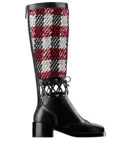chanel-leather-and-tweed-laced-boots
