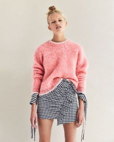 mini skirt gingham zara
