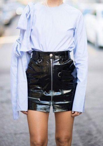 high waisted vinyl skirts