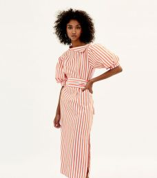 zara stripped midi dress