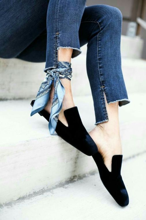 scarf as an ankle tie