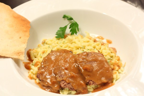 sauerbraten with spatzele