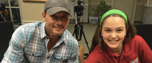 tim mcgraw interviewed by kid reporter about humble and kind
