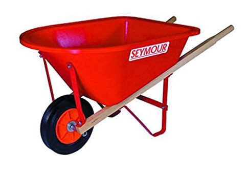 4. Seymour WB-JR Lightweight Poly Wheelbarrow