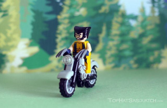 Wolverine on his Bike