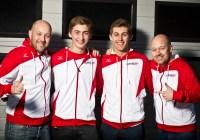 Tolle Stimmung im Lechner- Team: Walter Lechner jun, Ferdinand Habsburg, Anton de Pasqual, Robert Lechner Credit: Heiko Mandl