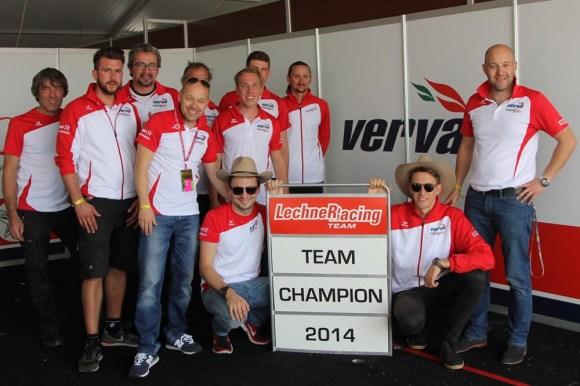 VERVA Lechner Racing feiert den Team-Champion im Porsche Supercup 2014 © Lechner Racing