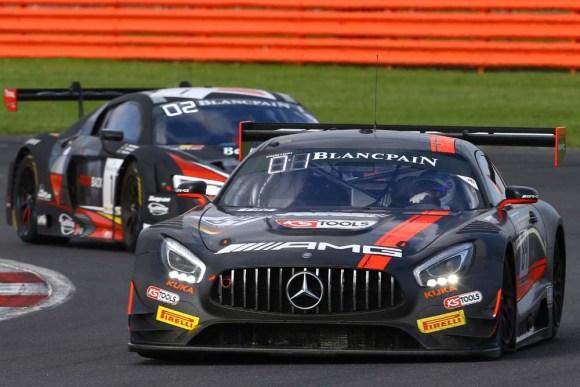 Dominik Baumann feiert seinen ersten Sieg in der Blancpain GT Series