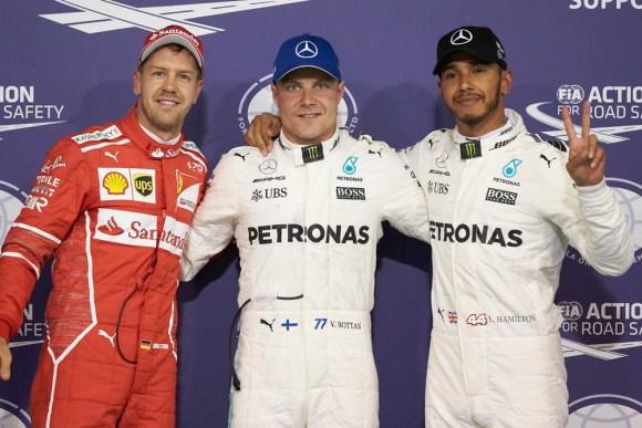 Sieg für Valtteri Bottas vor Lewis Hamilton und Sebastian Vettel © Daimler AG