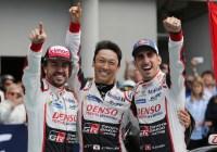 Sieg für Fernando Alonso, Kazuki Nakajima, Sébastien Buemi © TOYOTA GAZOO Racing