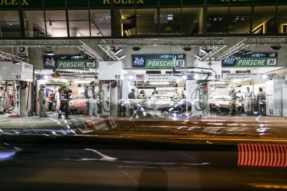 Porsche Werksteam in Le Mans © Porsche AG
