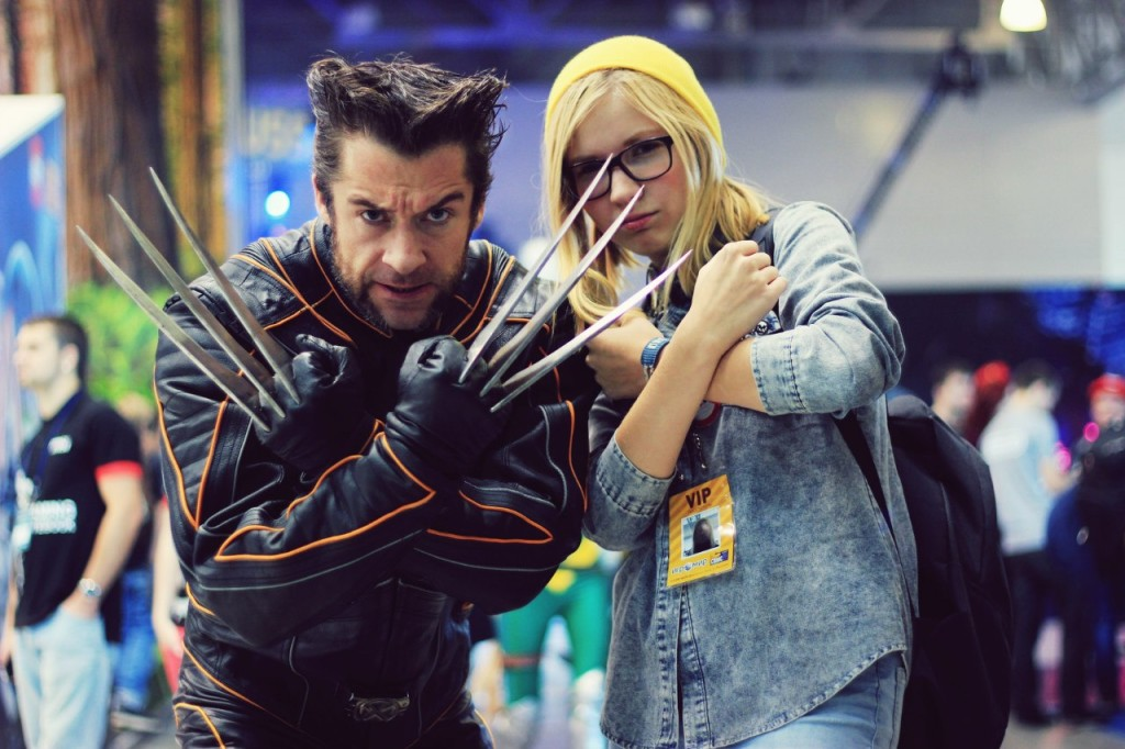 Comic-con dressed as Wolverine