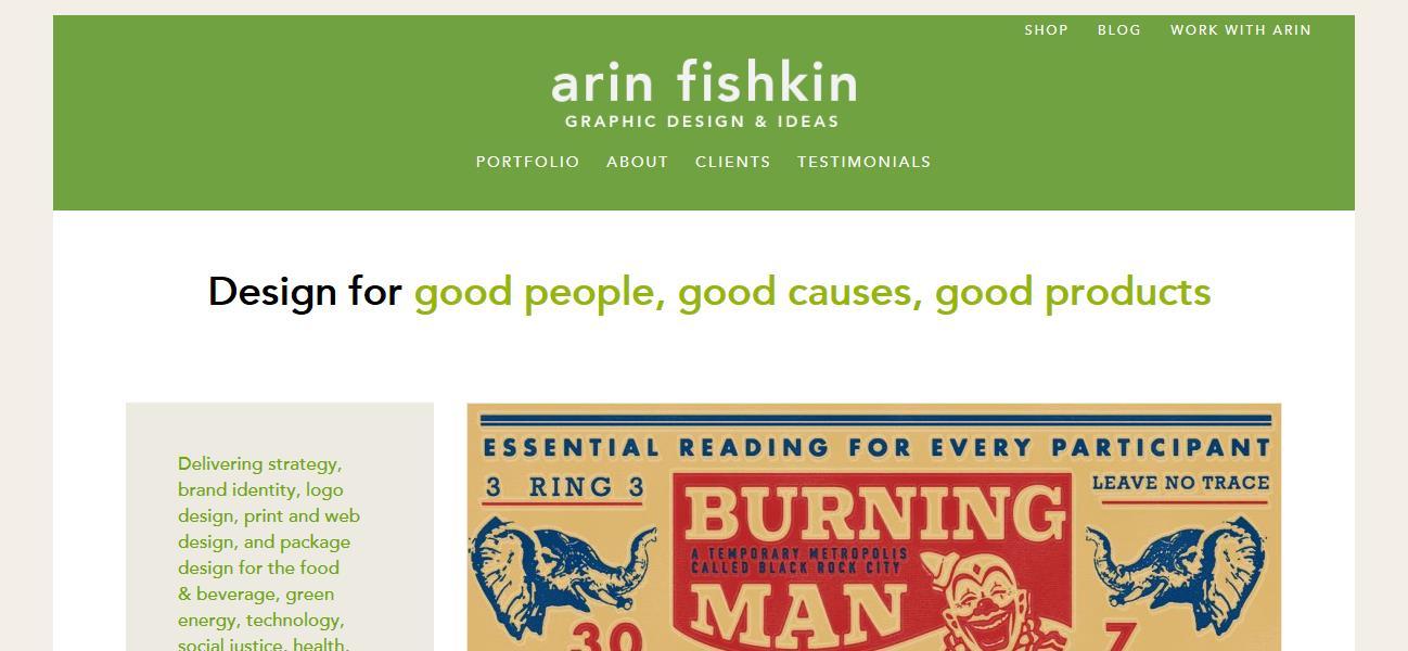 Arin Fishkin Graphic Design Reviews