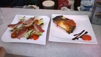 Salade Sud-Ouest et aubergine parmigiana