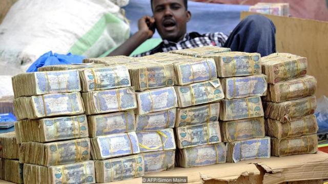 ソマリランドの両替所(BBC)