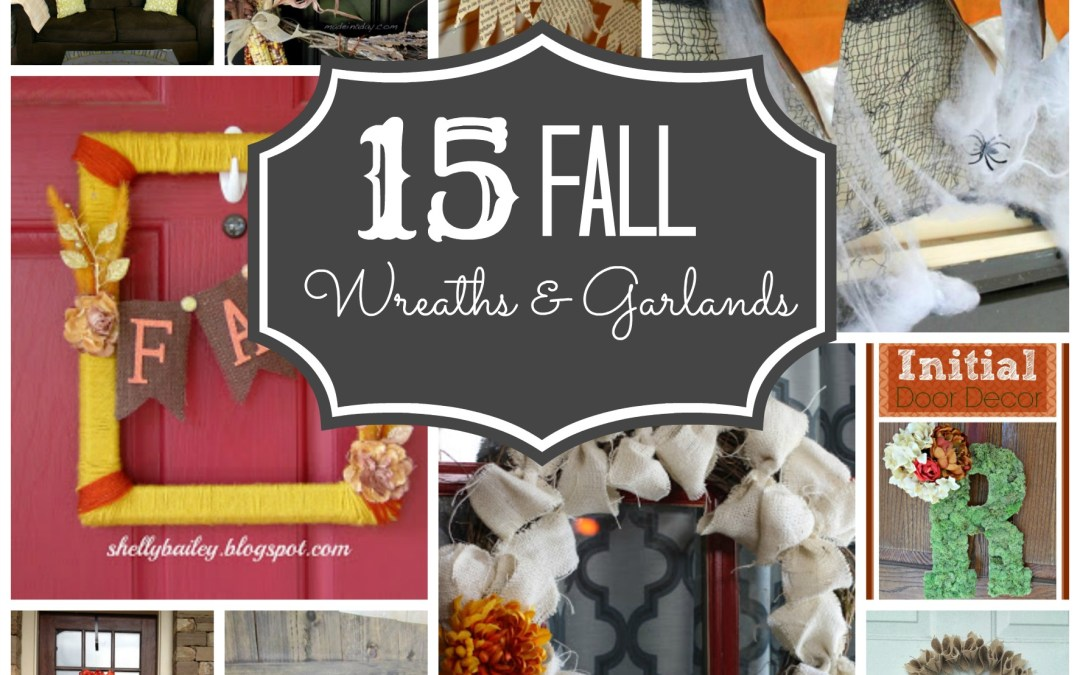15 Fall Wreaths + Garlands