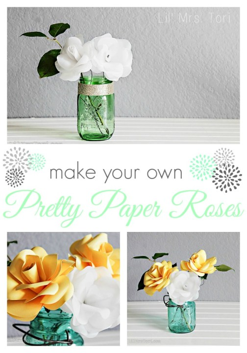 How to make your own paper roses | Lil Mrs. Tori