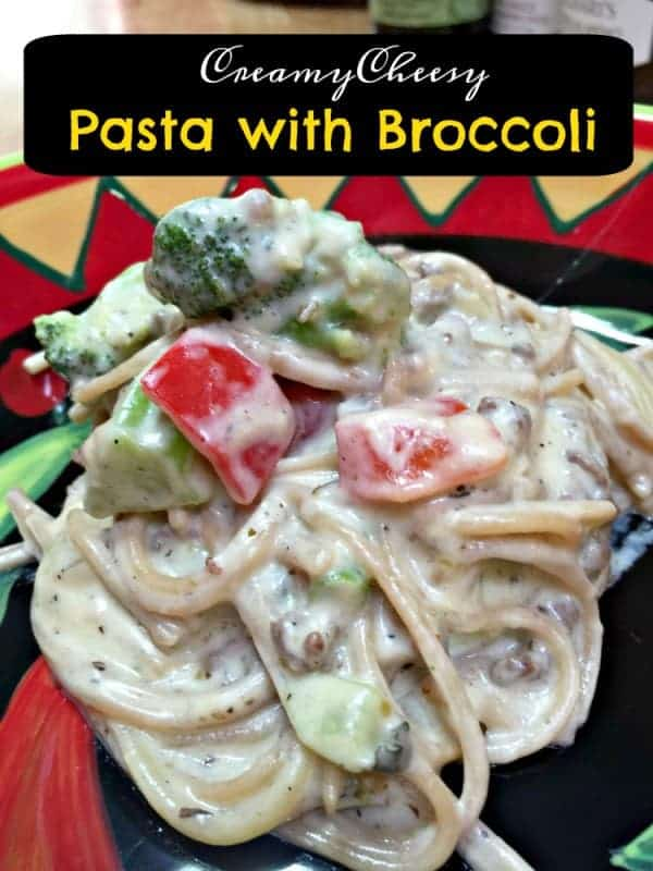 Creamy Cheesy Pasta with Broccoli from Tumbleweed Contessa