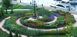 toronto music garden overhead