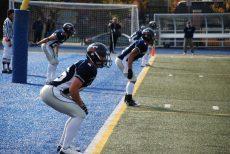Varsity Blues defending the line