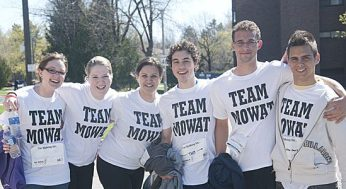 Teams from all over Toronto showed their support at the MS Walk.