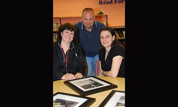 Educational assistants of the photo club, (left to right) Christine Lombardi, Kevin Graham and Cristina Da Silva.