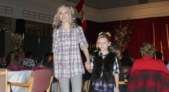 Young models, Ashley (left) and Destiny, strut their stuff in clothing donated by Sears Scarborough Town Centre. The Rouge Valley Health System Foundation held their second annual fashion show on November 7th at the Momiji Centre.