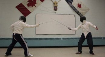 Tom Partington (left) and Allan Spears (right) are both coaches at the Scarborough Fencing Club after fencing as members for a few years.