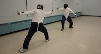 Fencing is a fast sport that requires good hand-eye coordination and physical flexibility.