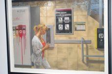 Winner Glenn Bernabe's 'Subway Platform.' Pastel on paper. $3700.
