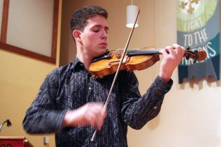 Alexander Volkov plays Jean Sibelius - Violin Concerto in D Minor, Op. 47, Allegro Moderato during the fundraiser billed as Six Stars of Tomorrow.