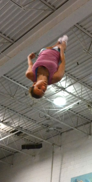 Olympian Karen Cockburn says the most difficult part of trampoline for her has been overcoming her fears. Cockburn says she has had to work hard to not let her fear stop her from learning new skills and tricks in the air.