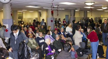 Over 100 people attended a meeting held at St.Paul's L'Amoreaux Centre, where a discussion about a merger between TSH and TGEH was held.