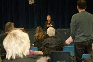 A resident voices the concerns of several members of the Danforth/St Clair community in attendance at the meeting.