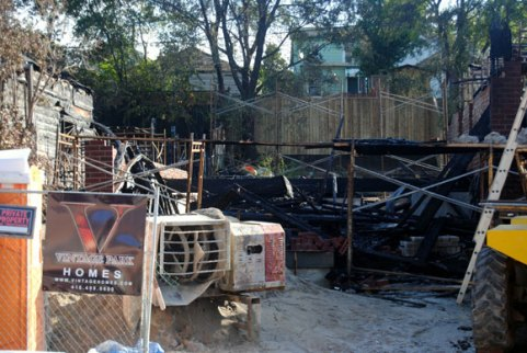 The house at 141 Byng Ave., was still under construction on Sept. 25 when it was consumed by flames that residents say were higher than the treeline.